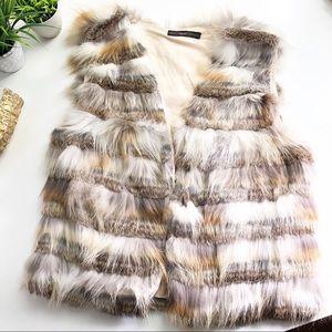 Hazel Hazel Hazel Genuine Bagder & Rabbit Fur Vest